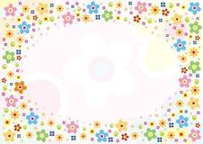 Les fleurs ont conçu la carte illustration de vecteur