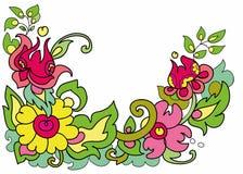 Les fleurs ornementent sur un fond blanc Image libre de droits