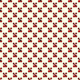 Les fleurs rouges sur un modèle sans couture de fond clair dirigent l'illustration Images libres de droits