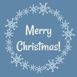 Les flocons de neige d'hiver de Joyeux Noël tressent Le vecteur gribouille la carte postale illustration de vecteur