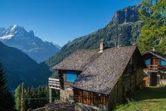 Les folwarczki, vallorcine, haute Savoie, France fotografia stock