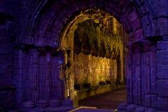 les fontaines de l'Angleterre d'abbaye s'approchent de York photo libre de droits