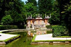Les fontaines de tour au palais de Hellbrunn à Salzbourg photo stock
