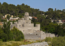 Les Fonts. Spain, Catalonia, Barcelona Province, View of the Les Fonts Castle royalty free stock image