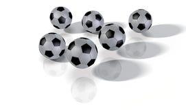 Les football Photographie stock libre de droits
