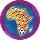 Les football de l'Afrique illustration de vecteur