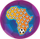 Les football de l'Afrique Image libre de droits