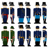Les forces armées de l'union army-3 illustration libre de droits