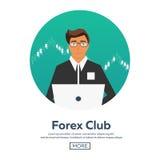 Les forex lancent sur le marché, commerçant Club de forex Commerce en ligne Technologies dans les affaires et le commerce Intelli Photographie stock libre de droits
