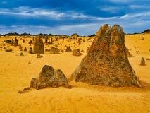 Les formations de roche de chaux de sommets, Australie occidentale images stock