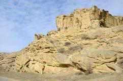 Les formations de roche chez Uplistsikhe foudroient la ville, la Géorgie Images libres de droits