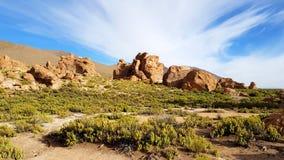 "Les formations de roche de la ""Italie Perdida ""dans les montagnes andines de la Bolivie photo stock"