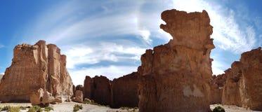 "Les formations de roche de la ""Italie Perdida ""dans les montagnes andines de la Bolivie images stock"
