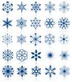 Les formes de flocon de neige ont placé 2 illustration stock