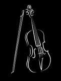 Les formes du violon sont dans a   illustration libre de droits