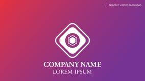 Les formes géométriques peu communes - concevez le logo de calibre, resizable, simple et élégant Images libres de droits