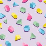 Les formes géométriques se composantes de modèle géométrique colorent le style dessus Image stock