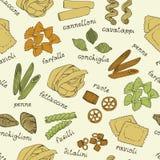 Modèle italien de pâtes sur un fond beige illustration libre de droits