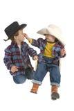 Les frères de cowboy se taquinent Images libres de droits