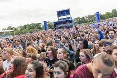 Les fréquences perdues exécute vivant au festival de week-end d'atlas Kiev, Ukraine photos libres de droits
