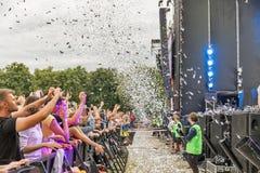 Les fréquences perdues exécute vivant au festival de week-end d'atlas Kiev, Ukraine photos stock