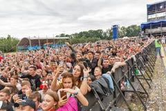 Les fréquences perdues exécute vivant au festival de week-end d'atlas Kiev, Ukraine photo stock