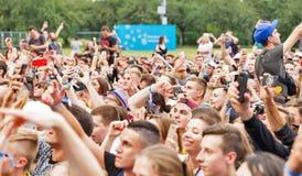 Les fréquences perdues exécute vivant au festival de week-end d'atlas Kiev, Ukraine photographie stock libre de droits