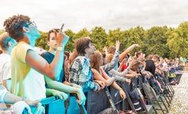 Les fréquences perdues exécute vivant au festival de week-end d'atlas Kiev, Ukraine image libre de droits