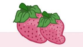 Les fraises dentellent coloré Photos libres de droits