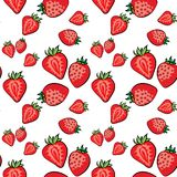 Les fraises dirigent le modèle sur le blanc blanc de fond illustration de vecteur