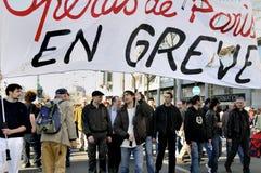 les Français de la France de démonstration travaillent l'union de Paris Image libre de droits