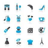 Les Frances cultivent et les icônes d'industrie Photo stock