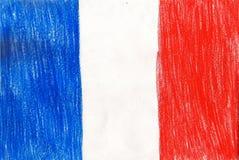 Les Frances diminuent, photo de style d'enfant d'illustration de dessin au crayon illustration libre de droits
