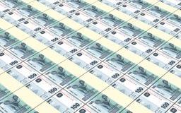 Les francs congolais de factures ont empilé le fond Photos stock