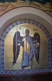 Les fresques dans le monastère de Kykkos Image libre de droits