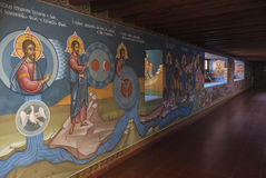 Les fresques dans le monastère de Kykkos Photo libre de droits