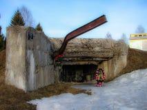 Les frontières commémoratives d'Ilyinskaya de complexe et de musée dans la région de Kaluga en Russie Photos libres de droits