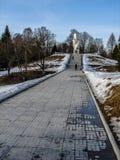 Les frontières commémoratives d'Ilyinskaya de complexe et de musée dans la région de Kaluga en Russie Image stock