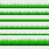 Les frontières d'herbe verte de ressort ont placé d'isolement sur le backg transparent Image libre de droits