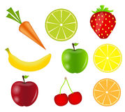Les fruits frais dirigent l'illustration Image stock
