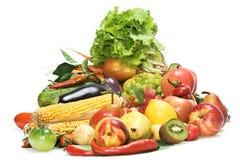 les fruits ont isolé des légumes Photographie stock