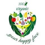 les fruits ont placé des légumes illustration libre de droits
