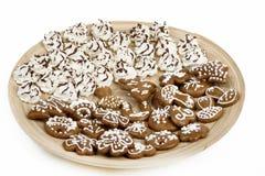 Les gâteaux de Noël se ferment vers le haut Photographie stock