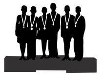 Les gagnants au sport, icône, vecteur Photos stock