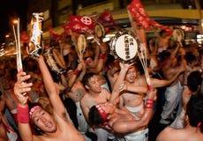 Les gagnants japonais de conflit célèbrent Photographie stock libre de droits