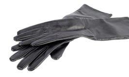 Les gants de la longue femme noire photos stock