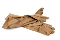 Les gants des dames en soie Photos libres de droits