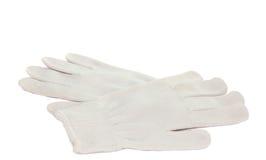 Les gants fonctionnants blancs ont isolé Photo stock
