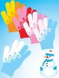 les gants réchauffent Images libres de droits