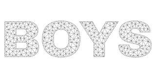 Les GAR?ONS polygonaux de maille textotent le label illustration stock